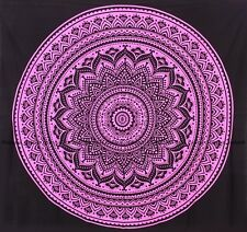 Ombre mandala tapestry cotton wall hanging bohemian indien pink bedspread throw