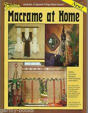 Macrame at Home Taurus Vintage Pattern Booklet Curtains Wall Hangings Tables New