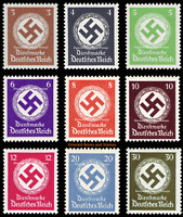 EBS Germany 1934-1942 - Swastika Official Stamps - Dienstmarke MNH** ex 132//177