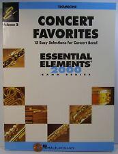 Hal Leonard Concert Favorites Essential Elements 2000 Vol.2 Trombone