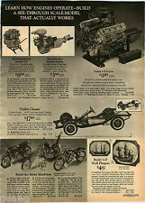 1972 ADVERT Toy Model Motorcycles Honda 750 LA Sreet Chopper Harley Davidson