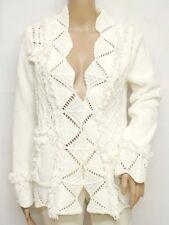 OUI Moments * Strickjacke Gr. 36 Ivory Langarm Strick Knit Damen Sweater