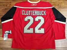 Reebok RBK Minnesota Wild Center Ice Jersey #22 Clutterbuck Fight Strap Size 48