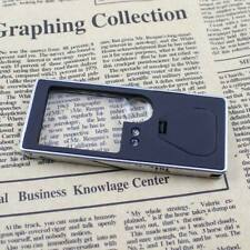 Pocket 3X/10X Magnifying Glass Magnifier Loupe with LED Light Reading/Jewelry UK