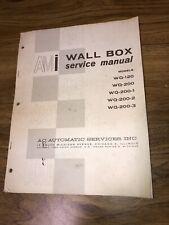 Ami Service & Parts Manual Wall Box Wq Models 120-200