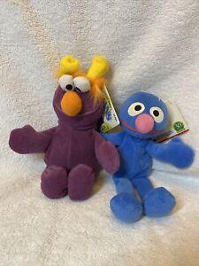 """Sesame Street Bean 8"""" Plush Lot Of 7 1997 Oscar, Honker,Grover"""