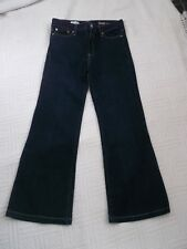 Gap         size 28  R              INDIGO DENIM  FLARED  JEANS