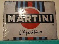 MARTINI -   Riproduzione Targa Tabella Pubblicitaria in latta Retrò