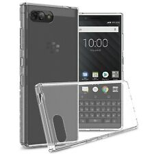 Crystal Clear Slim Fit TPU Bumpers Back Phone Cover Case For BlackBerry KEY2