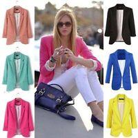 Women Casual One Button OL Blazer Business Suit Coat Slim Jacket Tops Outwear