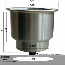 2PCS Stainless Steel Cup Drink Holder For Car Marine Boat RV Camper Yatch Truck