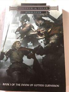 Warhammer Kinslayer **Gotrek And Felix**  by David Guymer (Paperback)