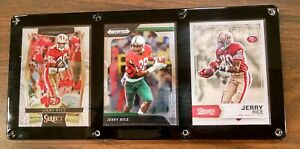 JERRY RICE 3 CARD PLAQUE SAN FRANCISCO 49ERS MISSISSIPPI VALLEY STATE