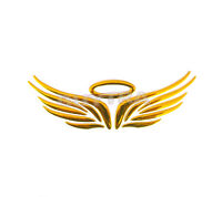 Awesome Good Gold 3D Angel Wings Car Truck Logo Emblem Badge Decals Sticke_HC