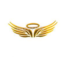 Awesome Good Gold 3D Angel Wings Car Truck Logo Emblem Badge Decals Sticker MDAU