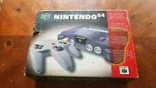Nintendo 64 Charcoal Grey Console (NTSC) Tested Free Shipping