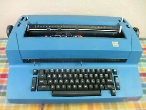 Blue IBM Correcting Selectric II Typewriter with Extras