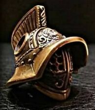 Gladiator Helmet LANYARD BEAD KNOT PARACORD BRACELET HANDCAST COLLECTIBLE BRASS