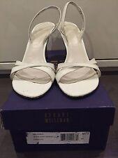 Stuart Weitzman Delovely Soft White Patent Size 7.5 Women's Heels