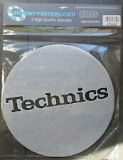 Pair Anti-static Wipes Record player Twin Set Slipmats Technics Silver and Black