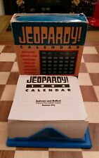 Boxed Vintage Jeopardy! 1994 Day-To-Day Table Calendar RARE Questions & Answers