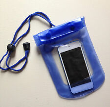 Waterproof BLUE Pouch for Phone / Camera / Keys /Money Dry Bag Sports Beach Case
