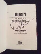 SIGNED by Dusty Rhodes - Dusty : Reflections of an American Dream HC WWE HOF