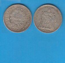 Gertbrolen Défense Nationale  5 francs Hercule en  Argent  1870 Paris