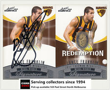 2012 Select AFL Eternity Medal Winners Signature Redemption Card MWS2 L.Franklin