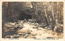 C44/ Camp Baldy California Ca Postcard Real Photo RPPC c1910 Divided Stream