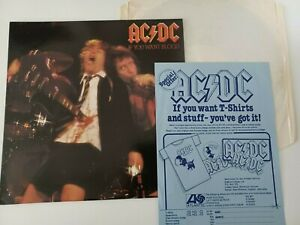 UK Original Atlantic LP A2/B2 Matrix AC/DC - If You Want Blood + Insert 1978 EX+