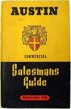 AUSTIN Commercials Salesmans Guide Original Brochure Sep 1956 #1151/D