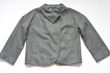J.Crew Aubrey Herringbone Coat Jacket Size 8 M Womens Wool Gray Solid NWT