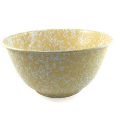 Crow Canyon Enamelware Large 28cm Serving Bowl in Yellow Marble Enamel D23YLM