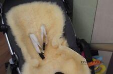 Sheepskin Pushchair Pram Car Seat Natural Medical White Yellow