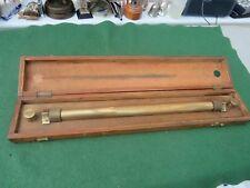 VINTAGE IN LEGNO NAUTICA ROLLING Righello da W.H. Harling di Londra in scatola in legno