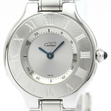 Polished CARTIER Must 21 Stainless Steel Quartz Ladies Watch W10109T2 BF515510