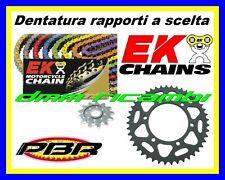 Kit Trasmissione Racing 520 YAMAHA YZF-R6 600 06 catena colorata EK PBR 2006