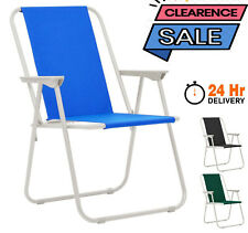 More details for folding camping chair garden patio deck chair picnic beach outdoor foldable seat