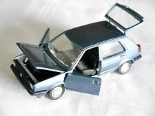 VW Golf Mk II 2 in dunkel blau bleu blu dark blue metallic, Schabak 1:43 Felge A