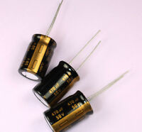 8pcs 470uF 50v 105c Radial Electrolytic Gold Capacitor Low ESR 13mm X 21mm