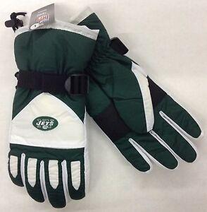 NWT NFL New York Jets Reebok Men's Winter Ski Glove w/ Gripper Palm NEW!