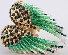Angel wing brooch pendant pin BD03 women biker bling fashion jewelry gift green
