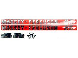 BONNET DECAL SET FOR MASSEY FERGUSON 65. HIGH QUALITY.
