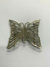 Solid Silver Vintage Nurses Belt Buckle- butterfly - 1991 London