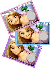 RAPUNZEL TANGLED PERSONLIZED SCRATCH OFF OFFS PARTY GAME CARDS BIRTHDAY FAVORS