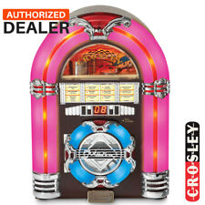NEW Crosley CR1101A-CH Classic Tabletop CD Disc Player Jukebox - Cherrywood