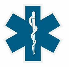 Star of Life Sticker Decal R872
