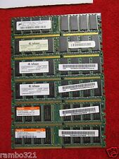 6 sticks of 400 MHZ DDR Ram Infineon Hynix 256MB PC3200 (DDR-400)
