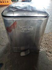 Aluminum Magikan flip top trash can gas station doctor's office vintage antique